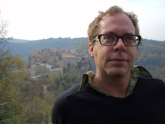 """Irreverent Curiosity"" author David Farley in Calcata, Italy, north of Rome."