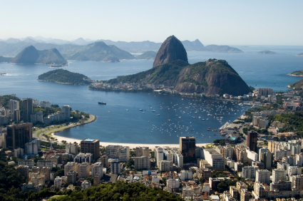The sweeping view over Rio's Botafogo Bay