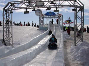ice slide at Quebec Winter Carnival