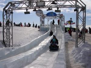 ice slide at Quebec Winter Carnival