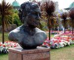 Agatha Christie bust, Torquay, Devon, England, United Kingdom